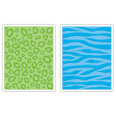 Sizzix - Textured Impressions - Embossing Folders - Animal Print Set