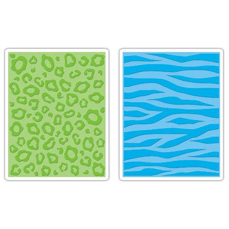 Sizzix - Textured Impressions - Embossing Folders - Animal Print Set