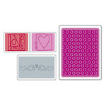 Sizzix - Textured Impressions - Embossing Folders - Love Set
