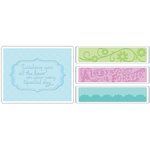 Sizzix - Textured Impressions - Embossing Folders - Wedding Set 3