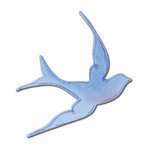 Sizzix - Sizzlits Die - Die Cutting Template - Small - Bird Swallow, CLEARANCE