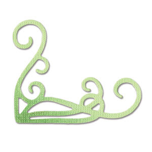 Sizzix - Sizzlits Die - Die Cutting Template - Small - Corner Flourish 2