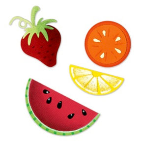 Sizzix - Summer Collection - Sizzlits Die - Medium - 3 Pack - Summer Fruit Set 2