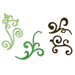 Sizzix - Celebrations Collection - Sizzlits Die - Medium - 3 Pack - Decorative Flourishes Set