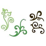 Sizzix - Sizzlits Die - Celebrations Collection - Die Cutting Template - Medium - 3 Pack - Decorative Flourishes Set