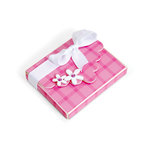 Sizzix - Celebrations Collection - ScoreBoards XL Die - Box with Scallop Flap and Flowers