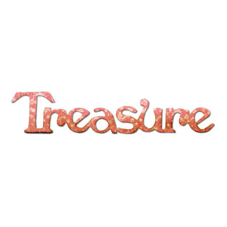 Sizzix - Originals Die - Medium - Phrase, Treasure