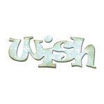Sizzix - Originals Die - Die Cutting Template - Medium - Phrase, Wish