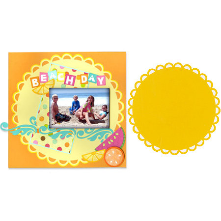 Sizzix - Bigz Pro Die - Die Cutting Template - Backgrounds - Circle, Ribbon