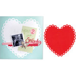 Sizzix - Bigz Pro Die - Backgrounds - Heart, Ribbon