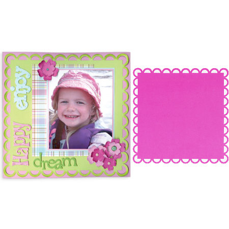 Sizzix - Bigz Pro Die - Die Cutting Template - Backgrounds - Square, Ribbon