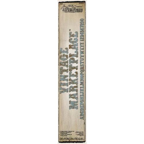 Sizzix - Tim Holtz - Alterations Collection - Sizzlits Decorative Strip Alphabet Die - Vintage Market