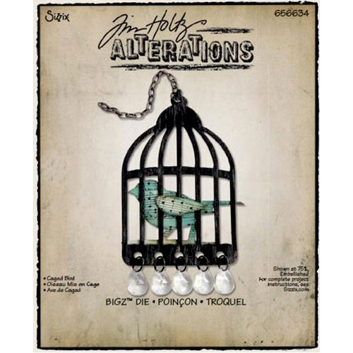 Sizzix - Tim Holtz - Alterations Collection - Bigz Die - Caged Bird
