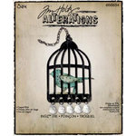 Sizzix - Tim Holtz - Bigz Die - Alterations Collection - Die Cutting Template - Caged Bird