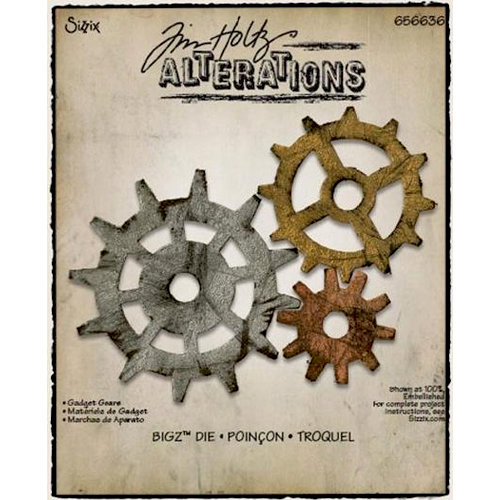 Sizzix - Tim Holtz - Alterations Collection - Bigz Die - Gadget Gears