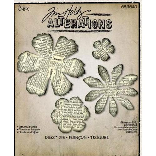 Sizzix - Tim Holtz - Alterations Collection - Bigz Die - Tattered Florals