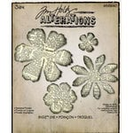 Sizzix - Tim Holtz - Alterations Collection - Bigz Die - Tattered Florals