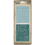 Sizzix - Tim Holtz - Texture Fades - Alterations Collection - Embossing Folders - Bingo and Patchwork Set