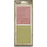Sizzix - Tim Holtz - Texture Fades - Alterations Collection - Embossing Folders - Collage and Notebook Set