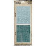 Sizzix - Tim Holtz - Texture Fades - Alterations Collection - Embossing Folders - Dot-Matrix and Gridlock Set