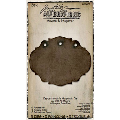"""Sizzix - Tim Holtz - Alterations Collection - Movers and Shapers Die - 3 Punches 1/4"""""""