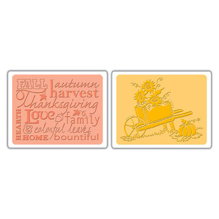 Sizzix - Textured Impressions - Embossing Folders - Autumn Sunflowers Set
