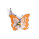 Sizzix - Bigz Die - Mini Albums Collection - Extra Long Die Cutting Template - Album, Butterfly