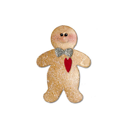 Sizzix - Christmas Collection - Originals Die - Gingerbread Man 3