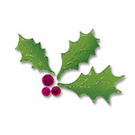 Sizzix - Originals Die - Christmas Collection - Die Cutting Template - Holly and Berries 2
