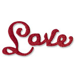 Sizzix - Originals Die - Christmas Collection - Die Cutting Template - Phrase, Love 2