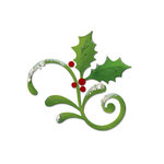 Sizzix - Bigz Die - Christmas Collection - Die Cutting Template - Flourish, Holly and Mistletoe