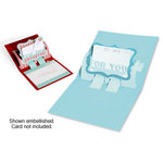 Sizzix - Bigz Die - Christmas Collection - Extra Long Die Cutting Template - 3-D Pop Up - Gift Card Holder with Phrase, For You