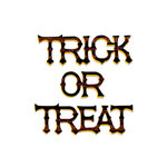Sizzix - Bigz Die - Halloween Collection - Die Cutting Template - Phrase, Trick or Treat