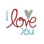 Sizzix - Bigz Die - Valentine Collection - Die Cutting Template - Phrase, I Love You
