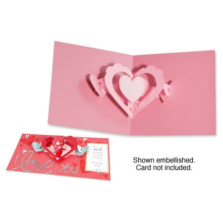 Sizzix - Bigz Die - Valentine Collection - Extra Long Die Cutting Template - 3-D Pop Up - Hearts-a-Plenty