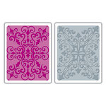 Sizzix - Textured Impressions - Embossing Folders - Damask Set