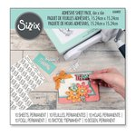Sizzix - 6 x 6 Adhesive Sheet Pack - Permanent - 10 Sheets