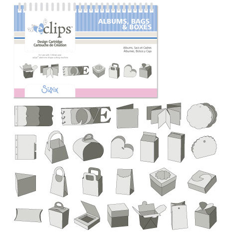 Sizzix - EClips - Electronic Shape Cutting System - Cartridge - Albums, Bags and Boxes