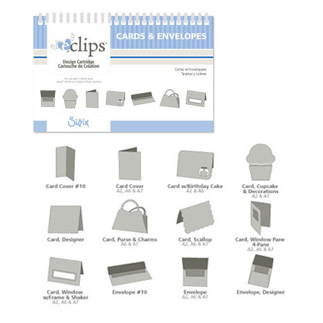 Sizzix - EClips - Electronic Shape Cutting System - Cartridge - Cards and Envelopes