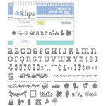 Sizzix - EClips - Electronic Shape Cutting System - Cartridge - Tween and Look at Me Alphabet