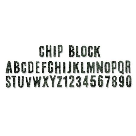 Sizzix - Tim Holtz - Alterations Collection - Sizzlits Decorative Strip Die - Chip Block