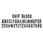 Sizzix - Tim Holtz - Alterations Collection - Sizzlits Decorative Strip Die - Chip Block