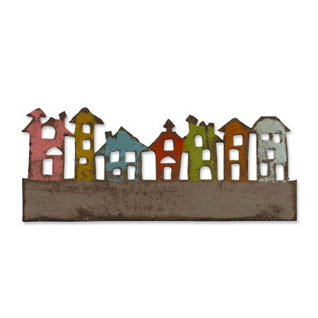 Sizzix - Tim Holtz - Alterations Collection - On the Edge Die - Townscape