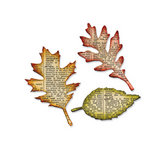 Sizzix - Tim Holtz - Bigz Die - Alterations Collection - Die Cutting Template - Tattered Leaves