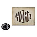 Sizzix - Tim Holtz - Movers and Shapers Die - Alterations Collection - Die Cutting Template - Hope