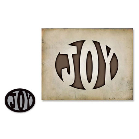 Sizzix - Tim Holtz - Movers and Shapers Die - Alterations Collection - Die Cutting Template - Joy