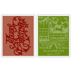 Sizzix - Tim Holtz - Texture Fades - Alterations Collection - Embossing Folders - Merry Christmas and Vintage Holiday