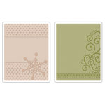 Sizzix - Textured Impressions - Embossing Folders - Snowflake and Flourish