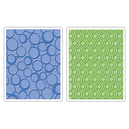 Sizzix - Textured Impressions - Embossing Folders - Circles and Dots Set