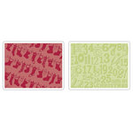 Sizzix - Textured Impressions - Embossing Folders - Christmas Stockings Set